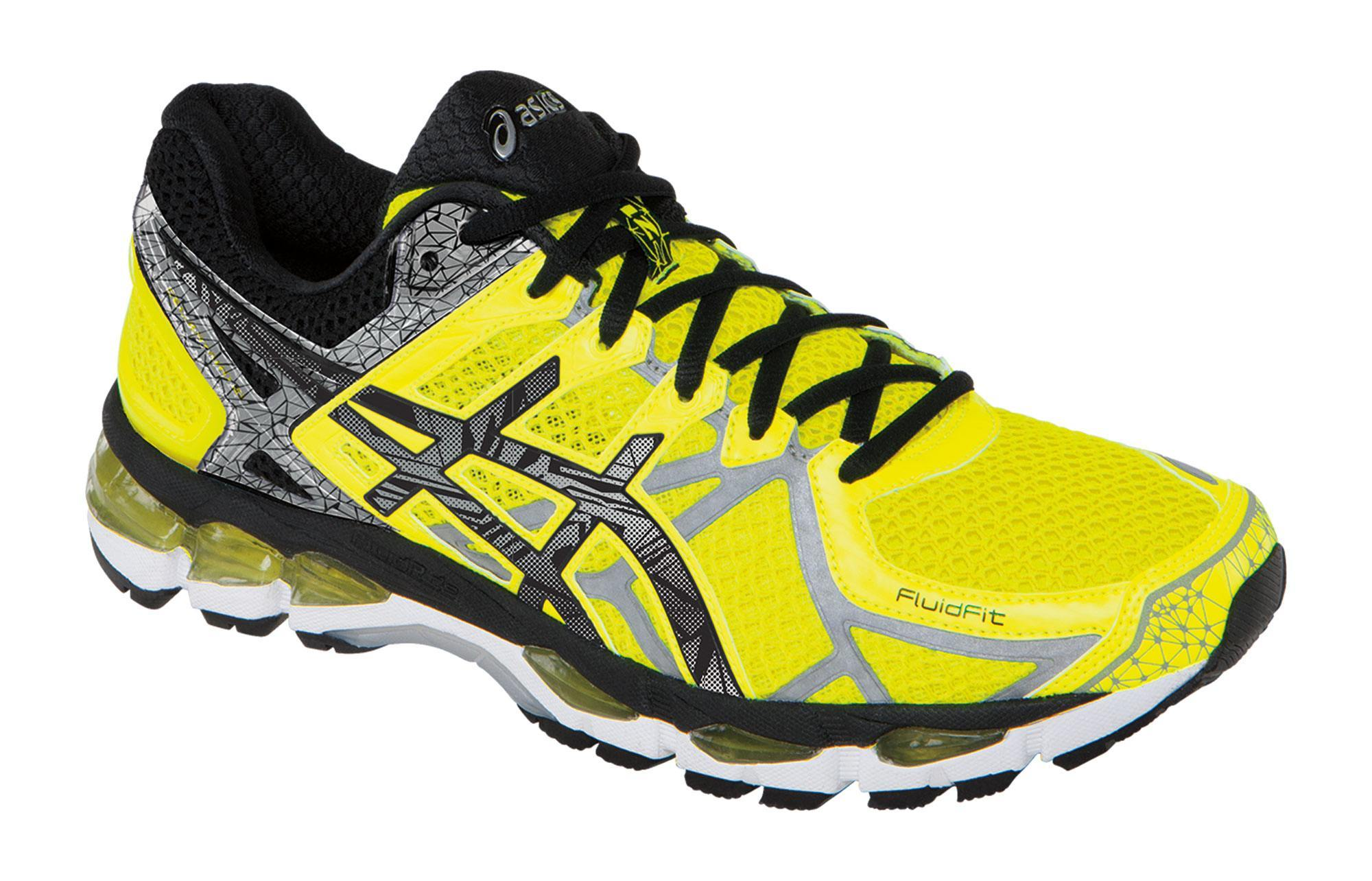 mens asics gel kayano 21 yellow black. Black Bedroom Furniture Sets. Home Design Ideas
