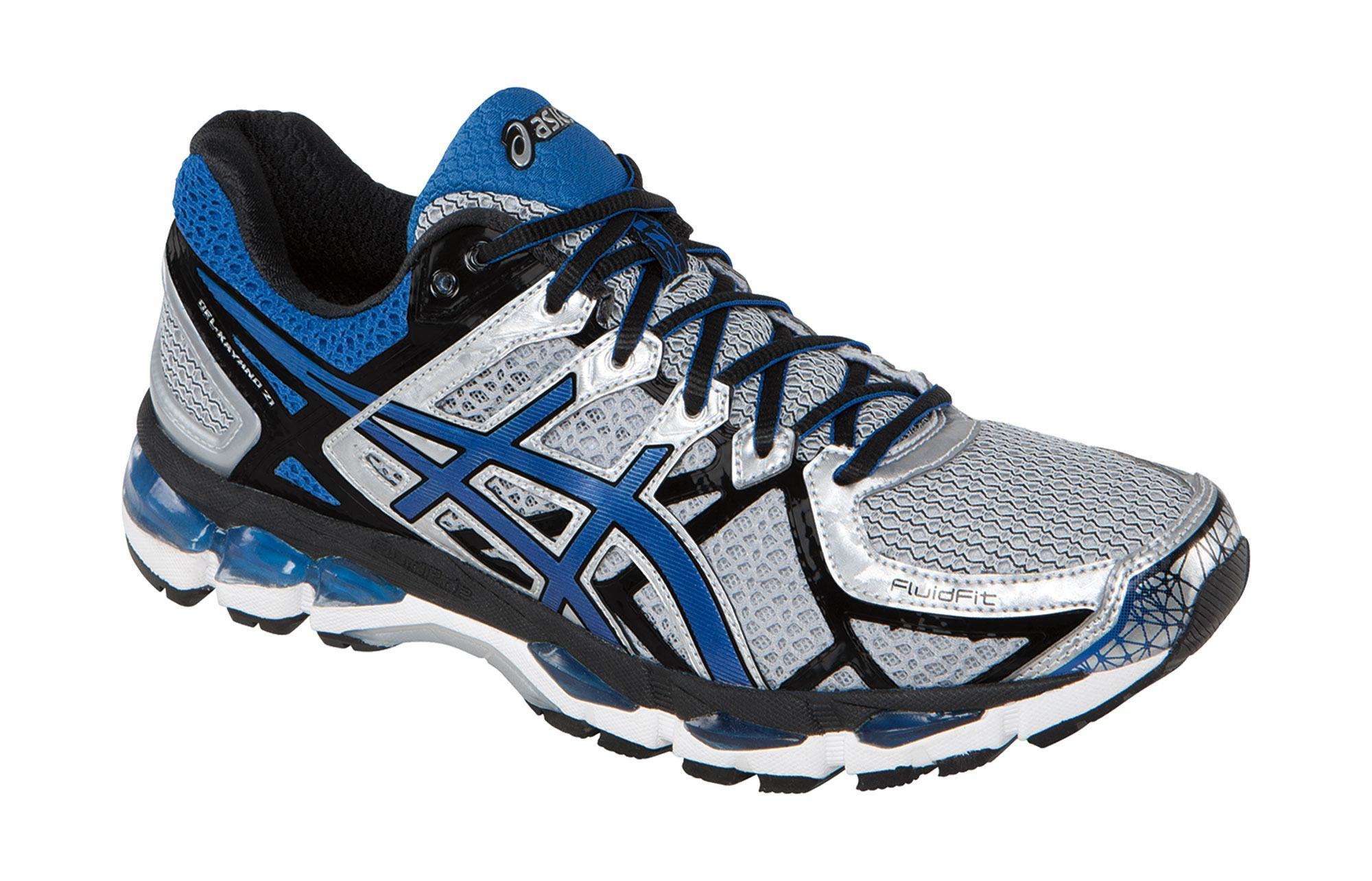 asics gel kayano 18 white and blue