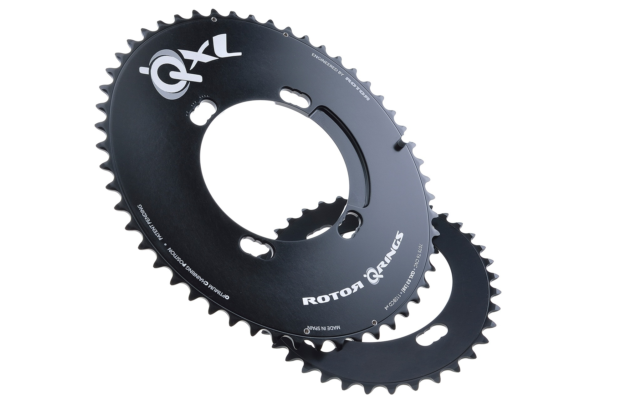 Rotor Qarbon Oval Q Ring Shimano 4 Bolt Outer Chainring 50/% OFF!