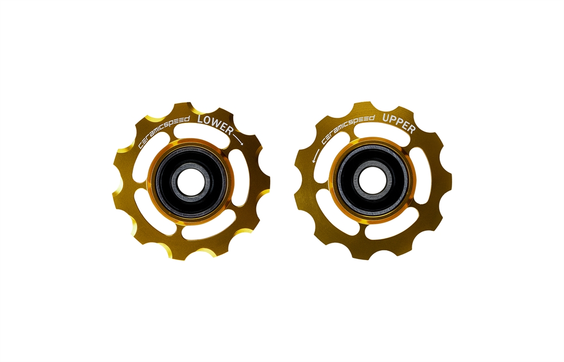 CeramicSpeed Alloy Derailleur Pulleys- Limited Gold - Shimano 11 Speed