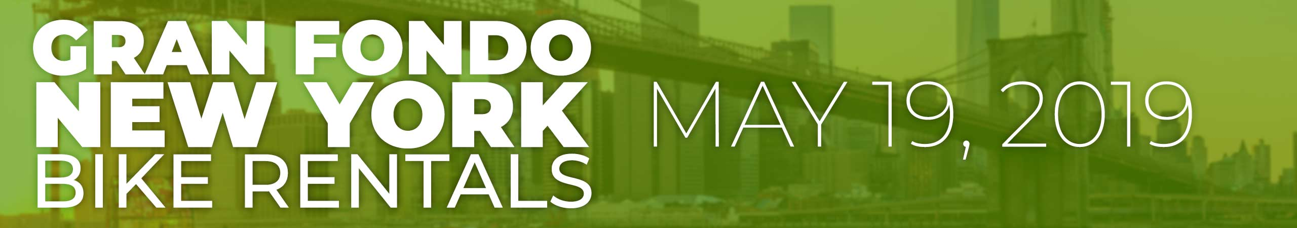 2019 Gran Fondo NY Bike Rentals